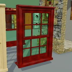 Box Sash Window Furniture With Bars Red Mahogany