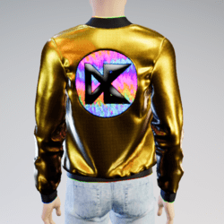(ANIMATED NEON) Daisybel Merchandise Jacket for Males