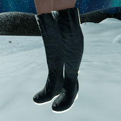 Emissive Leather Boots (female)