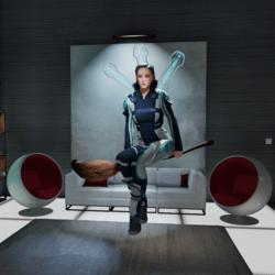 Custom sit on broomstick animation(female)
