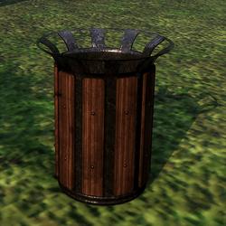 Rubbish Bin with Wood