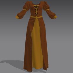 Gothic Dress Brown