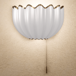 Shell Wall Lamp - Gold - Scripted On / Off