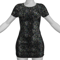 Tight Mini Dress With Glowing Bling Animation