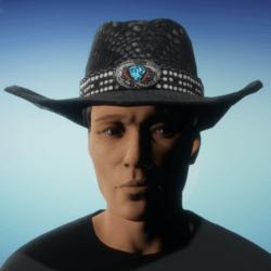 Cowboy Hat - Black Snakeskin