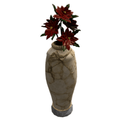 Christmas Marble Jar with poinsettia