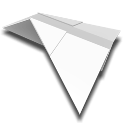 Paper Airplane - White - Collision Mesh