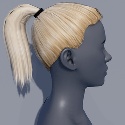 Hair - Pony Tail - Blonde Californian