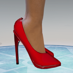 Red Pumps for Alina-Daisy High Heeled Avatar (also fits Nicci)