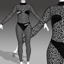 DEMO Sheer Leopard Catsuit