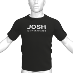 JOSH IS MY GLADIATOR T-Shirt - Male