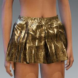 Folded Schort Skirt Gold