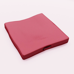 Floor Cushion With Handle Red