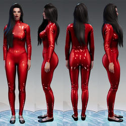 Latex Catsuit with turtle neck