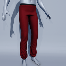 Men Sport Pants - Red