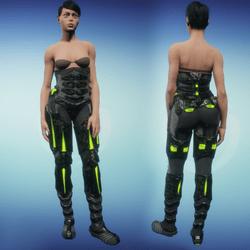 Sci-Fi Armor Bottom part 2/2 (green)
