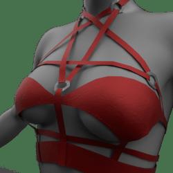 Womens Pentagram Top - Red