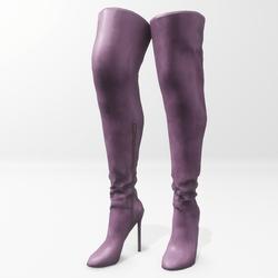 """""""Alina - Daisy"""" and Nicci avatar boots - purple"""
