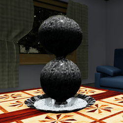 WaterBall BLACK MARBLE 01-Proj05