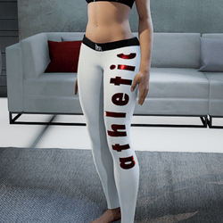 Leggings athletic white