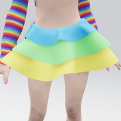 Layered Neon Skirt 02