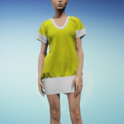 Bibi dress Yellow and White