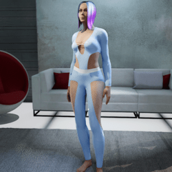 Outfit Carla Latex 2.0 blue