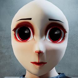 Anime head chibi FUR (mask)