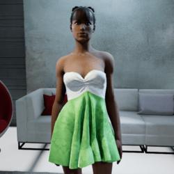 Strapless Silk Dress #3