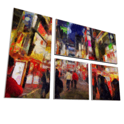 Painting Tokyo City