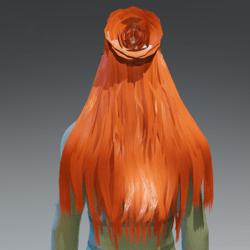 Flower style hair