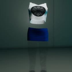 Clubbin Outfit (White/Blue Skull)