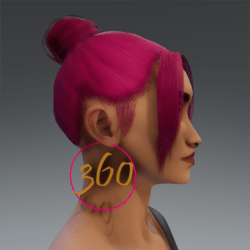 Deeppink and Gold 360 Hoop Earrings