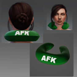 "Travel Pillow -  Green AFK - Relieves Heavy Head Syndrome ""HHS"""