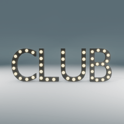 Club Marquee Blinking Sign