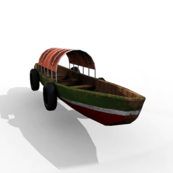 Old Boat (animated,Transport)