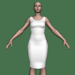 Sleeveless Knee Dress