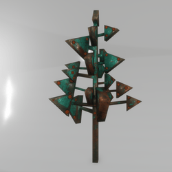 cubism tree - triangle