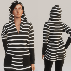 Stripped hoodie - Black and White