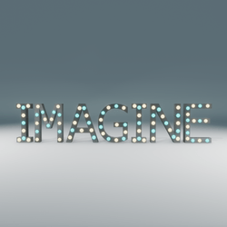 Imagine Marquee Blinking Sign