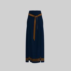 Skirt Briana Blue & Gold 2.0