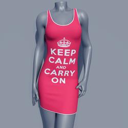 MPP - Keep Calm Dress - Carry On - Pink