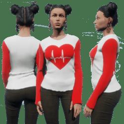 Pullover Heart Beat