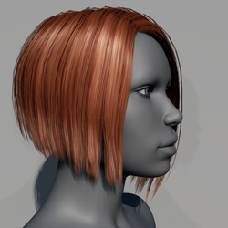 Hair - Asymmetrical Bob - Red Copper