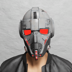 TKA Helmet Scifi Red Emissive & UV Animation ( Men )