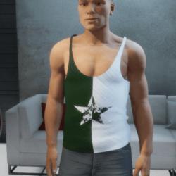 Tank top star green white