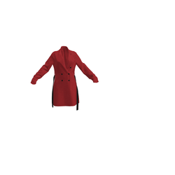 New Red Trenchcoat with belt