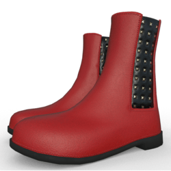 Jensen ankle boots for woman Red