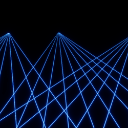 laser animated blue