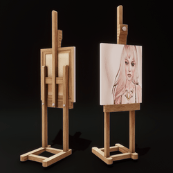 Easel with  Painting or Sign